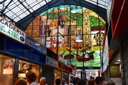 Stained glass window of Atarazanas market, Malaga
